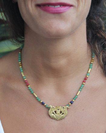 collar bronce de carriazo para mujer, joyas arqueológicas