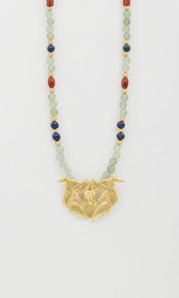 collar de piedras para mujer, collar bronce de carriazo