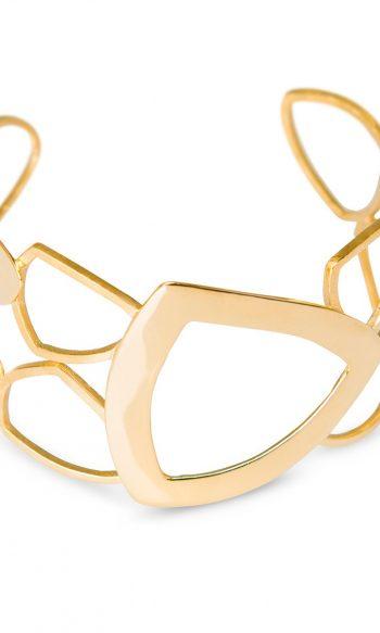 brazalete de oro para mujer, brazalete con baño de oro, brazalete para mujer