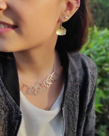 pendientes de plata y oro para mujer, regalar pendientes de plata, pendientes de diseño para mujer, pendientes para regalar