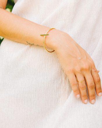 anillo bañado en oro para mujer hecho a mano por Marteliè Barcelona, joyasmarket