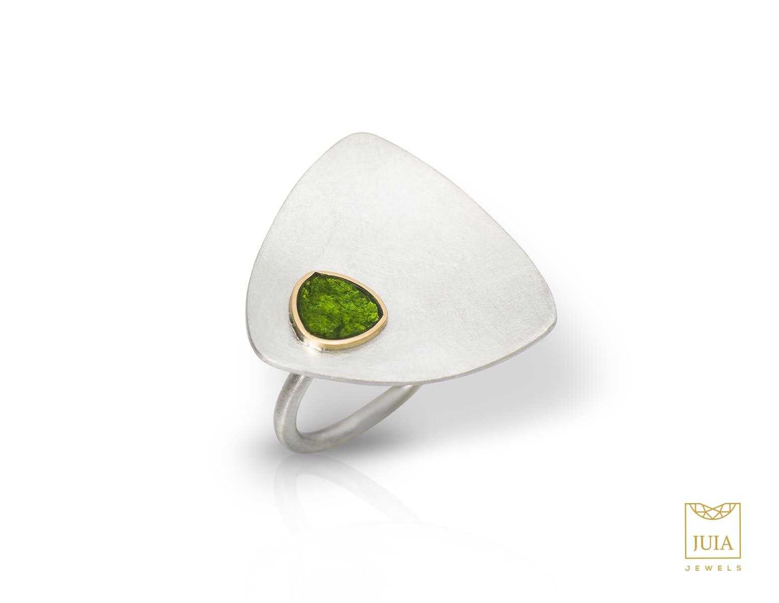 anillo de plata y oro para aniversario, joyas artesanales, joyas para regalar, juia jewels barcelona, joyasmarket
