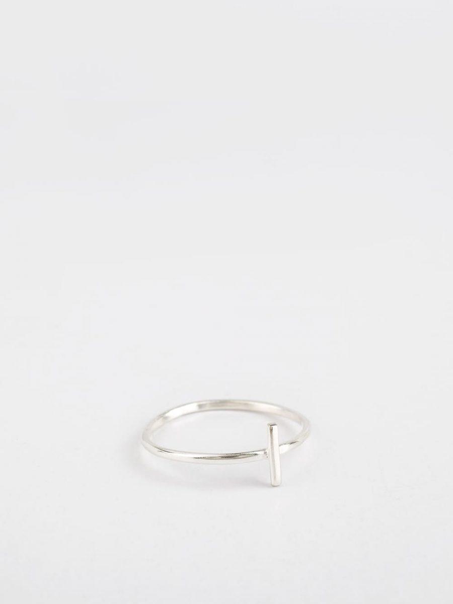 anillo de plata barato para mujer 1 barra creado por Marteliè para joyasmarket