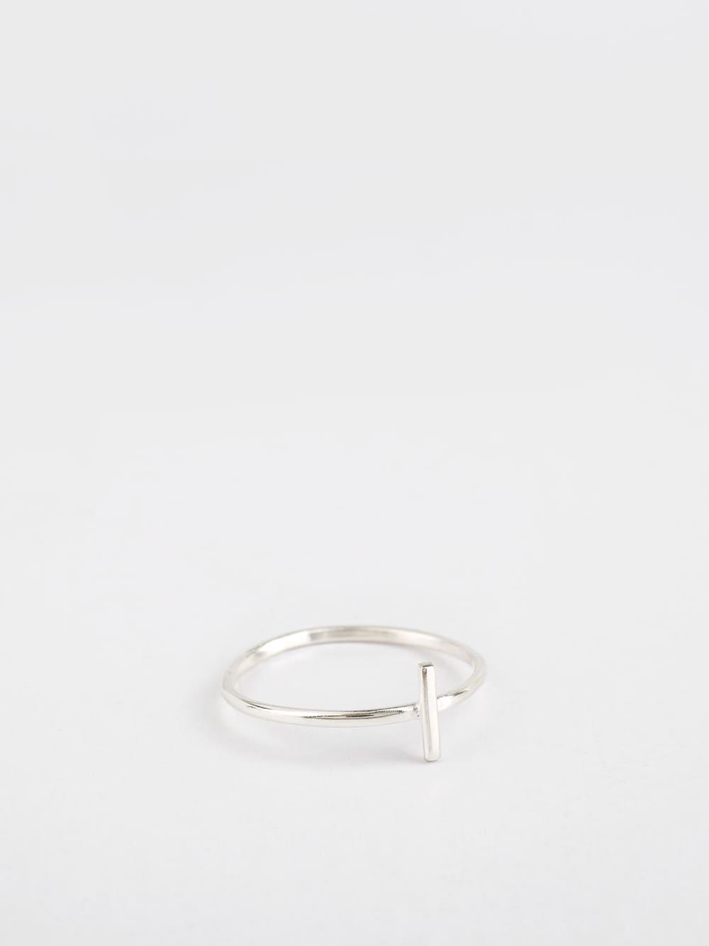 anillo de plata para mujer 1 barra creado a mano por Marteliè joyasmarket