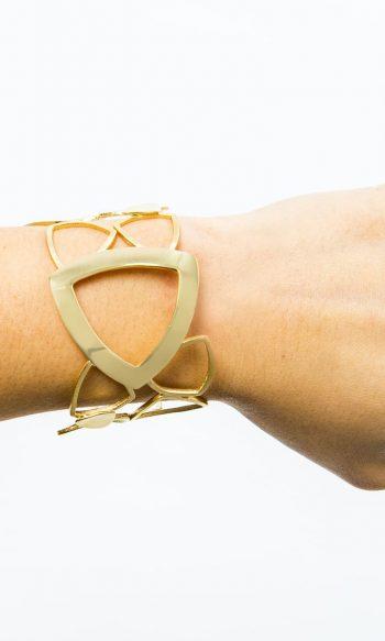 pulsera de oro para mujer, brazalete bañado en oro, pulseras de diseño, brazalete de diseño