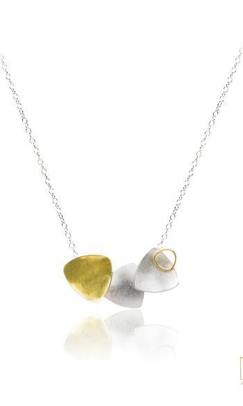 colgante de oro y plata, collar de oro y plata para mujer, collar de oro para boda, collar para fiestas, collar para vestido largo