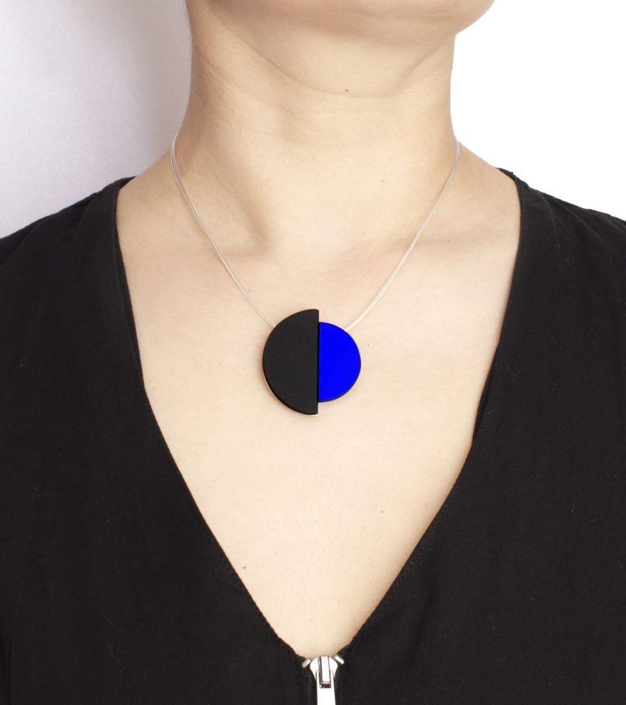 colgantes de diseño para mujer, colgante azul, regalar colgante de mujer