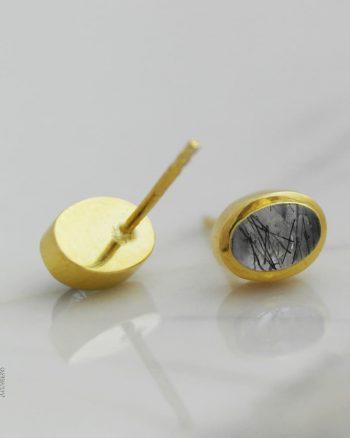 pendientes de oro para el dia de la madre, pendientes de mujer con cuarzo rutilado, comprar pendientes de plata