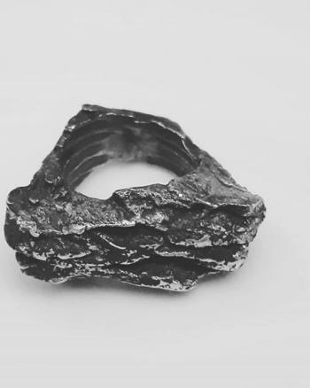 regalar anillo de plata de diseño natural para mujer