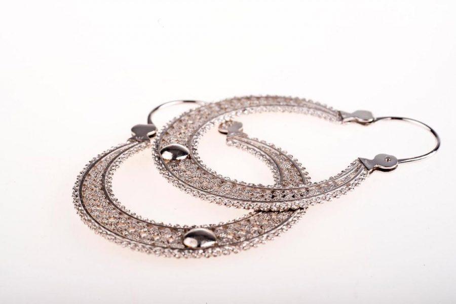 aros de plata y oro, comprar aros de mujer con plata y oro