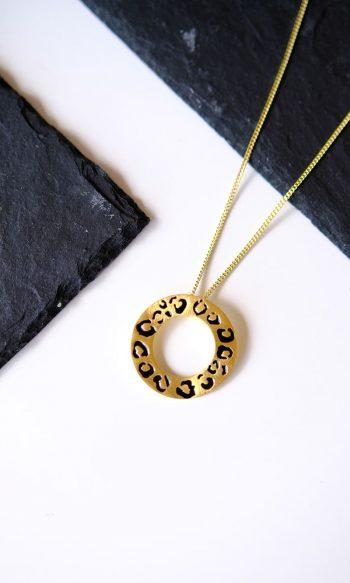colgante de oro leopardo, colgante de rodio leopardo, regalar colgante de mujer