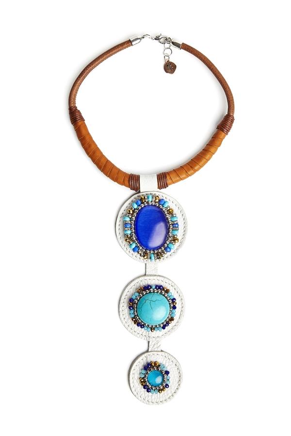 collar de estilo boho para mujer, joyas artesanales, collares de diseño para regalar, lalaeuno, paola torrighelli, joyasmarket
