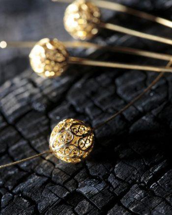 collar de cuentas de oro, collar pandora oro