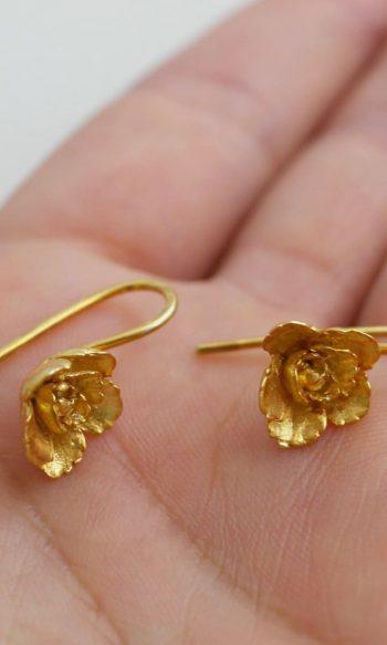 pendientes colgantes de oro para mujer