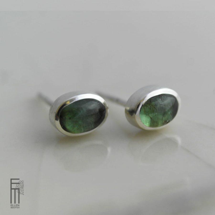pendientes de plata con fluorita verde