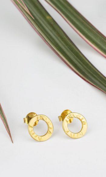 pendientes de oro baratos, pendientes de botón