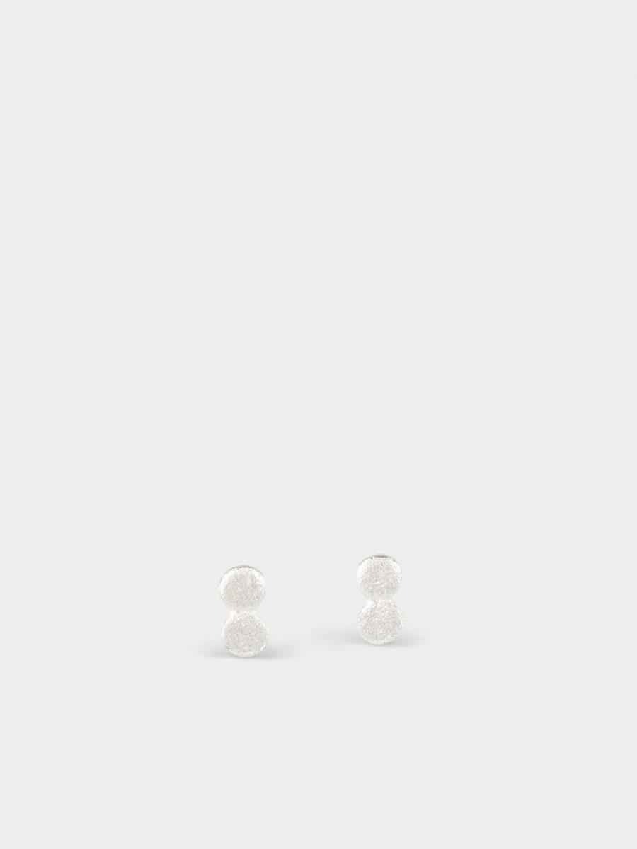 pendientes de botón de plata para mujer, pendientes ponibles, pendientes de plata para mujer