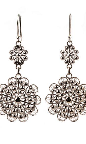 pendientes de plata elegantes, pendientes para boda, pendientes de plata para gala, pendientes de plata para graduación