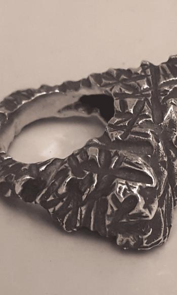 anillo de plata para mujer, anillo de plata atrevido, anillos para mujer