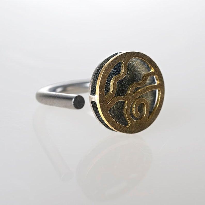 anillo de plata para regalar, anillos unisex, anillos de diseño, anillos exclusivos