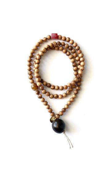 collar mala budista, collar mala artesanal