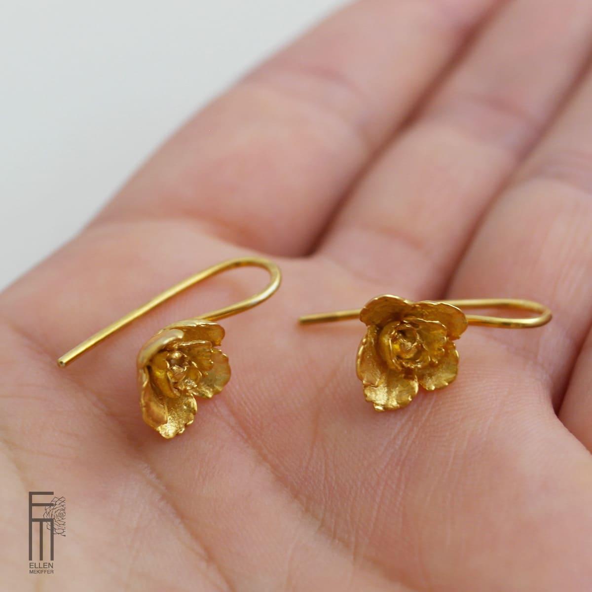 pendientes elegantes de oro, ellen mekiffer sevilla, comprar pendientes de oro, joyas hechas a mano, joyasmarket