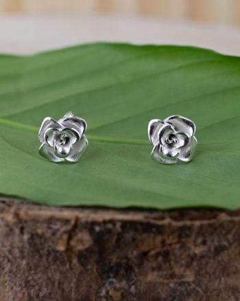 pendientes de plata para mujer de rosas