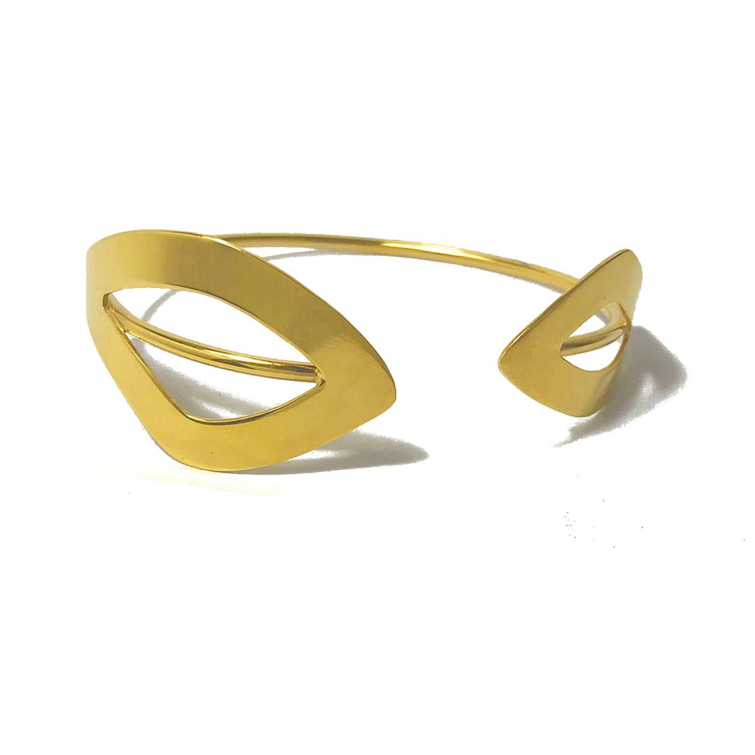 brazalete de estilo minimal para mujer, joyas artesanales, joyas para regalar, genoveva arias, pulseras doradas, pulseras para regalar, joyasmarket
