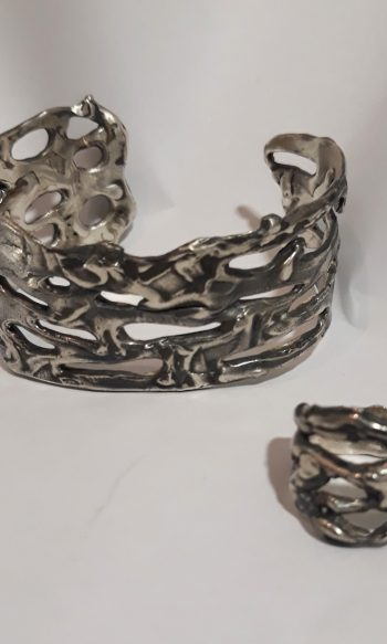 pulsera de plata de diseño, pulsera de plata pepa massana, regalar pulsera de plata de mujer