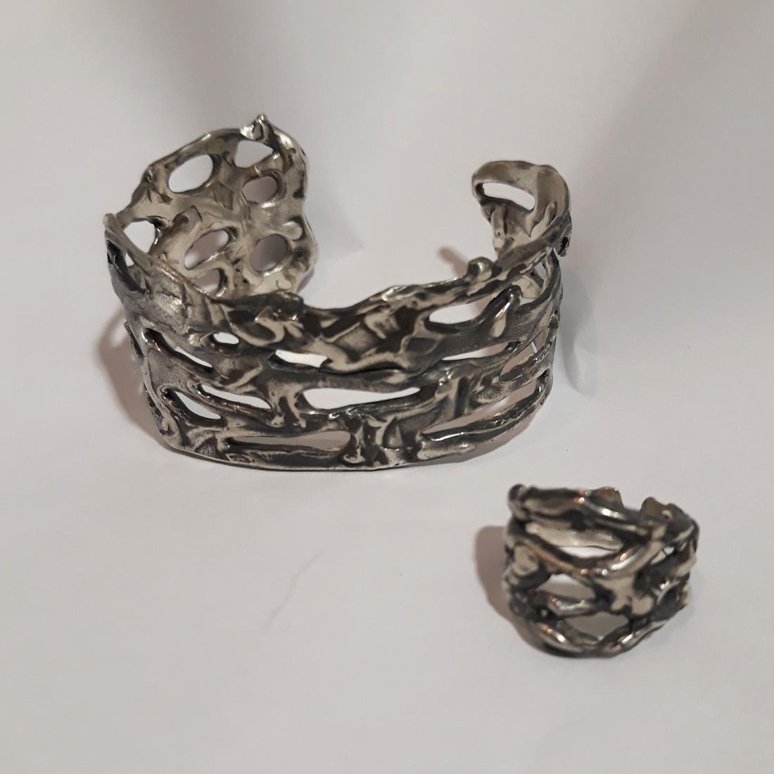 brazalete de plata para mujer, joyas artesanales, joyas para regalar, pepamassana, joyasmarket