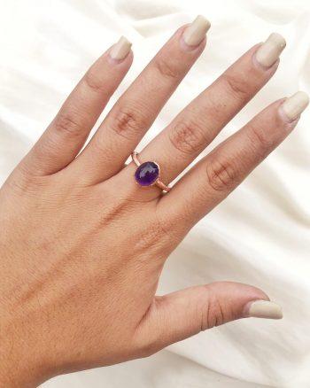 anillos con amatista para mujer