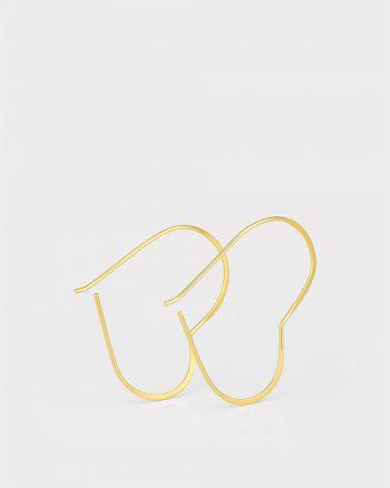 pendientes de corazón, regalar pendientes san valentin, regalo pareja san valentin, regalar pendientes de oro elegantes