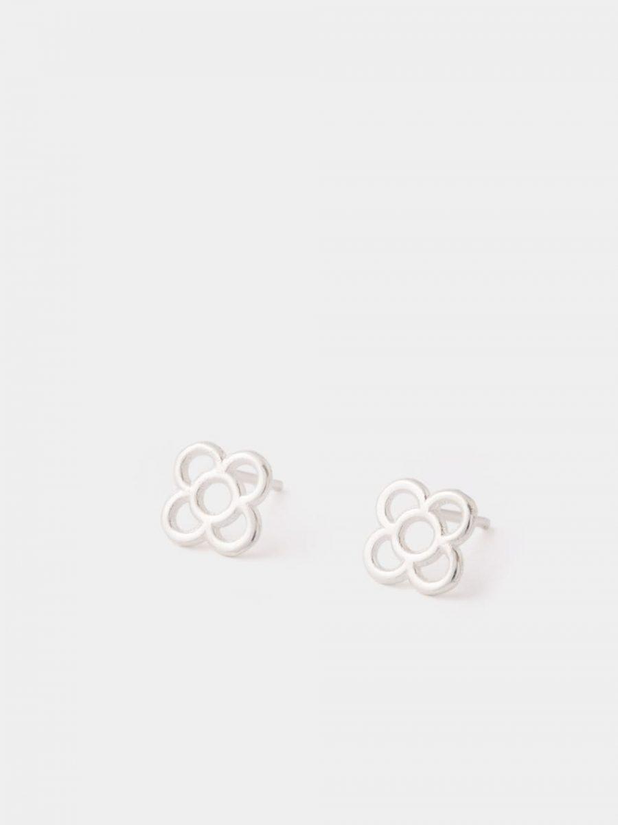 pendientes de flor de barcelona de plata