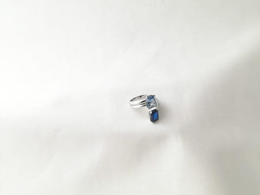 anillo de plata con piedras azules, comprar anillo de plata con piedras azules